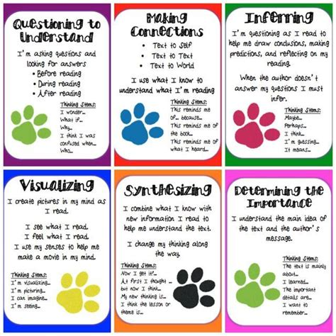 reading comprehension test strategies reading strategies posters printable to pinterest