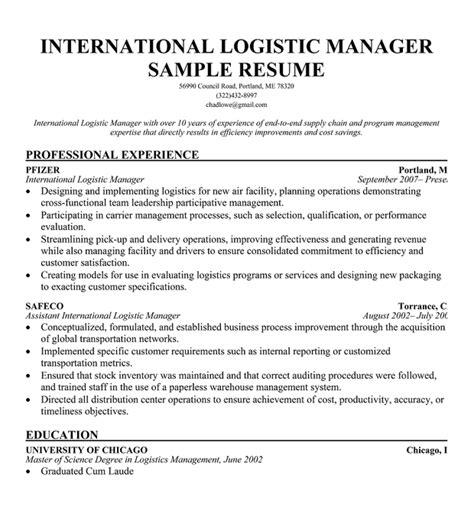 logistics resume bunch ideas of fleet administrator sle resume in template sle resume