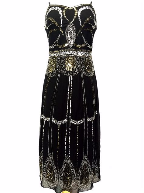 beaded dresses black vintage 1920s flapper gatsby downton fringe