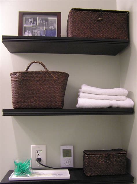 Bathroom Wall Shelves Wood 33 Clever Stylish Bathroom Storage Ideas