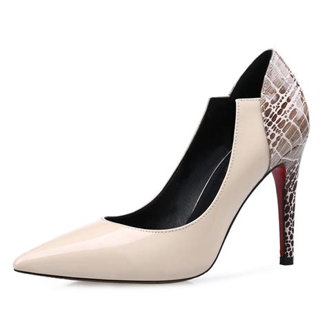 color pumps fashion pointed toe patch color pumps cutout spool