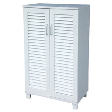 White Shoe Cabinet With Doors by 2 Door Paulownia Shoe Storage Cabinet White Auction