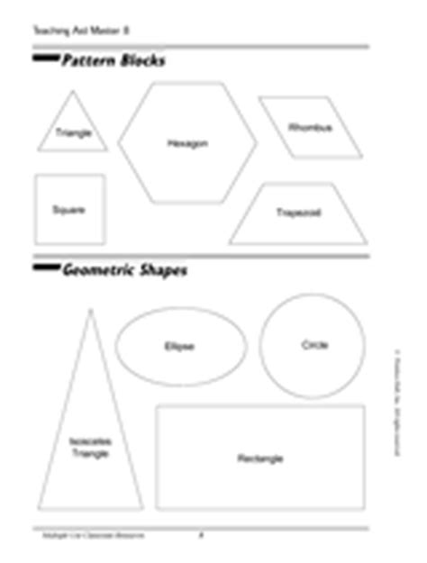 geometric pattern worksheets for 5th grade pattern blocks and geometric shapes printable k 5th