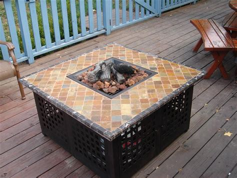 Patio Table With Propane Pit by Patio Table With Propane Pit Fireplace Design Ideas