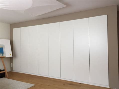 Built In Bedroom Wall Units by Built In Pax Using Dry Wall Technique Ikea Hackers