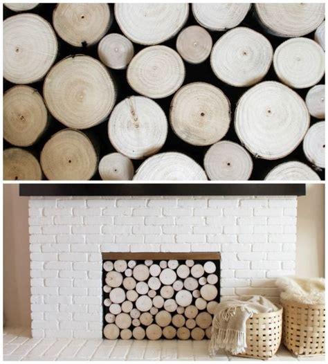 birch logs in fireplace nest home decor ideas
