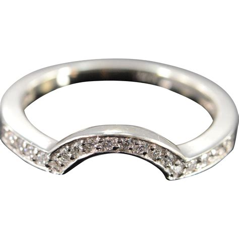 14k 0 18 ctw wrap around wedding band ring size