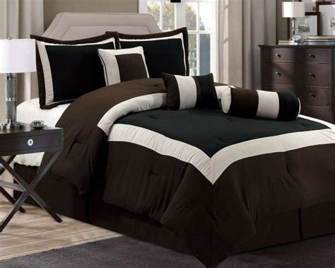 Chocolate Brown Bedding Sets Details About New Chocolate Brown Black Bedding Hton Comforter Set King Cal King