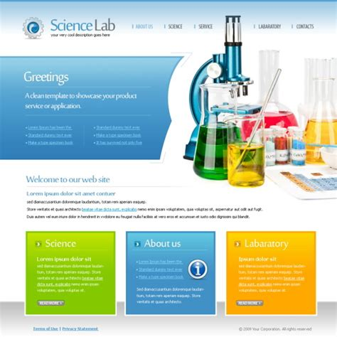 6106 Futuristic Science Website Templates Dreamtemplate Free Science Website Templates
