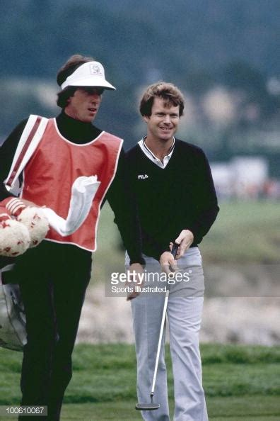 Tom Open I Was Playing - tom watson with caddie bruce edwards during sunday play at
