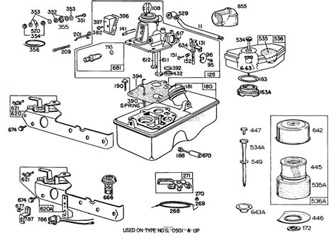 briggs and stratton carburetor parts diagram briggs and stratton 092982 1563 99 parts diagram for