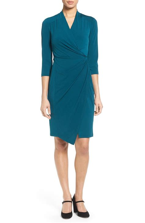 Dress Jersy faux wrap jersey dress everything turquoise