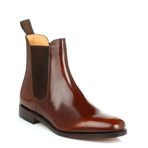 chelsea shoes loake mens 290t brown chelsea boots leather goodyear