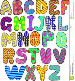 colorful letters colorful alphabet stock vector image of graphic