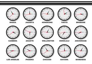time zone clock free vector stock graphics