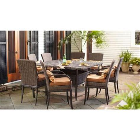 High Patio Dining Set Hton Bay Salem 9 High Dining Patio Set Discontinued 2 12 921 Dst9 The Home Depot