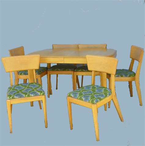 Heywood Wakefield Dining Table And Chairs Bargain S Antiques 187 Archive Heywood Wakefield Dining Set Table And Six Chairs