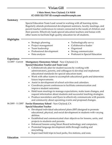 Resume Templates For Higher Education Administration higher education resume