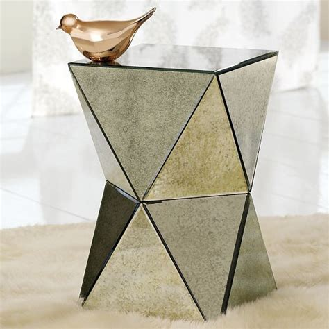 mirror side table faceted mirror side table contemporary side tables and end tables by west elm