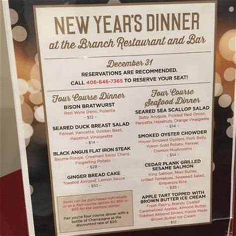 what is a traditional new year menu the branch restaurant and bar 54 photos 64 reviews
