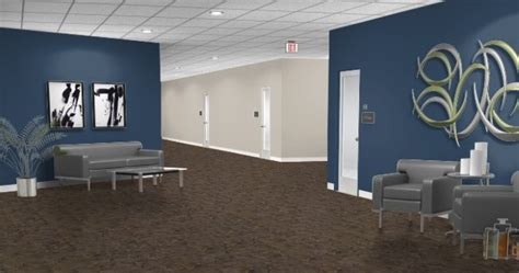 commercial office color scheme ideas navy wall color works with existing tan and gray work
