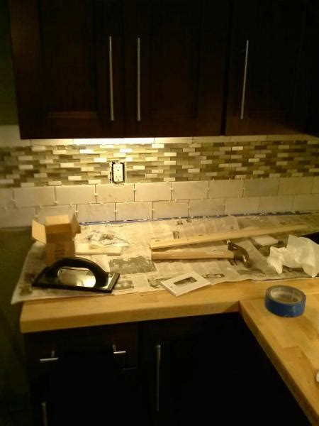 do it yourself kitchen backsplash just did kitchen backsplash doityourself com community