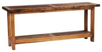 Wood Sofa Table 5 Foot Rustic Barnwood Reclaimed Wood Sofa Table 60 Inch Rustic Console Tables By