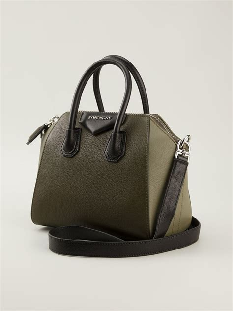 Givency Antigona Mini lyst givenchy mini antigona tote in green