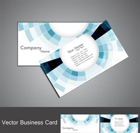 circle business card template illustrator abstract blue colorful mosaic circle business card set
