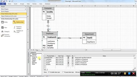 video 2a drawing logical data models using visio 2010