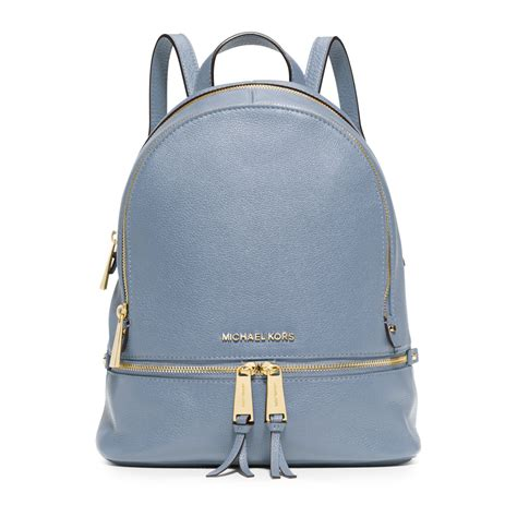 Michael Kors Rhea Backpack michael kors rhea small leather backpack in blue lyst