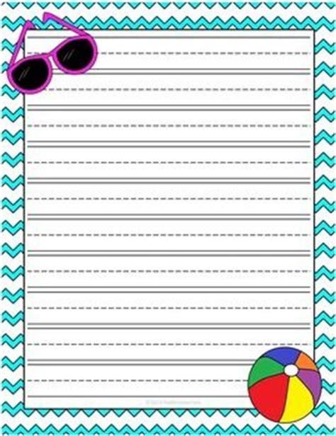 Summer Writing Paper Template