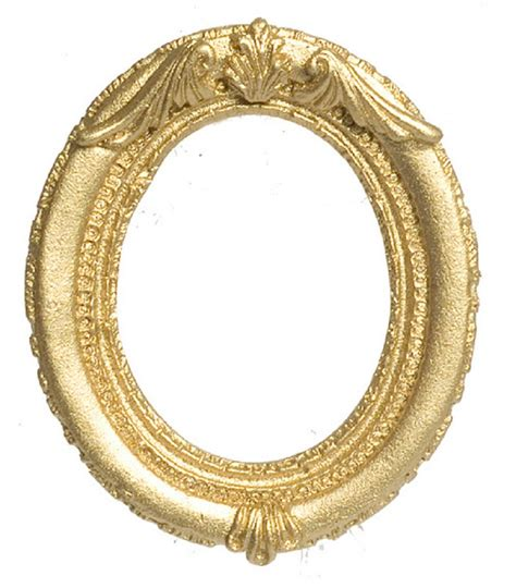 Trellis Bedding Ornate Gold Oval Resin Frame By Falcon Miniatures