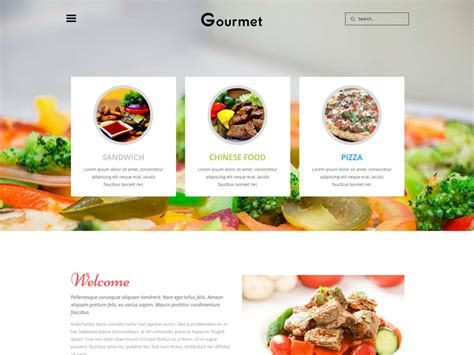 bootstrap templates for restaurant free gourmet free responsive bootstrap restaurant template