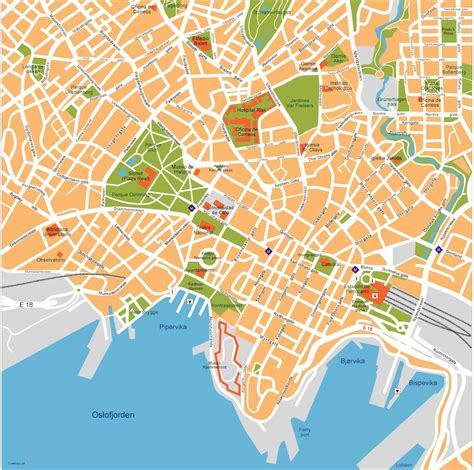 maps vector oslo vector map eps illustrator map our cartographers