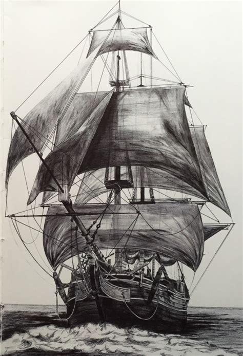 boat drawing tattoo pirate ship drawing tumblr