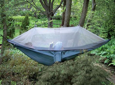 Covered Hammock For Two Hammock With Mosquito Netting Home Design Garden