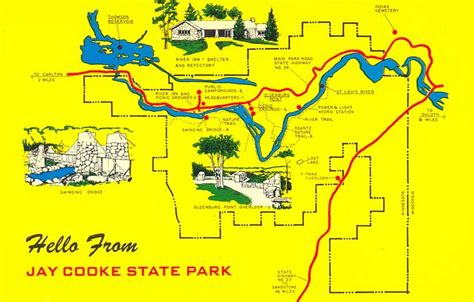 mn state parks map postcardy the postcard explorer cooke state park minnesota