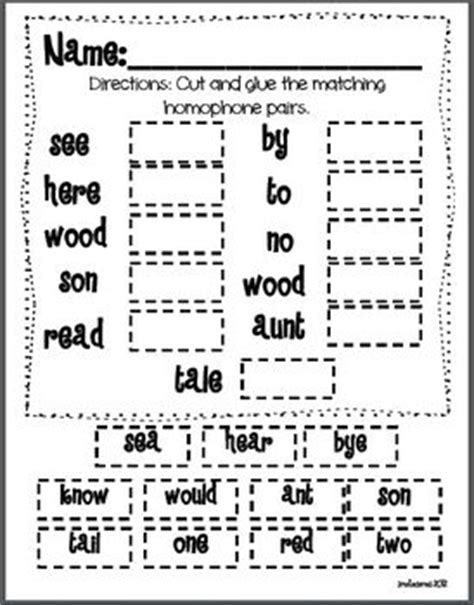 homophones worksheet for 2nd grade 17 best images about homophones on grammar lessons student centered resources and