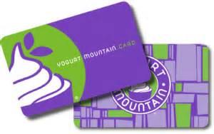 gift cards 187 yogurt mountain - Yogurt Creations Gift Card Balance