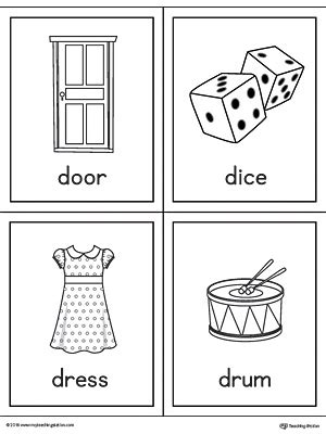 drum pattern worksheets letter d words and pictures printable cards door dice