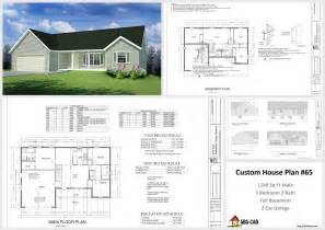 Plan 65 House And Cabin Plans Plan 65 Custom Home Design Dwg And Pdf
