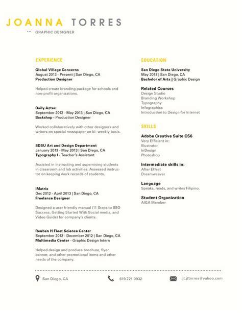 clean simple look creative resume design resume