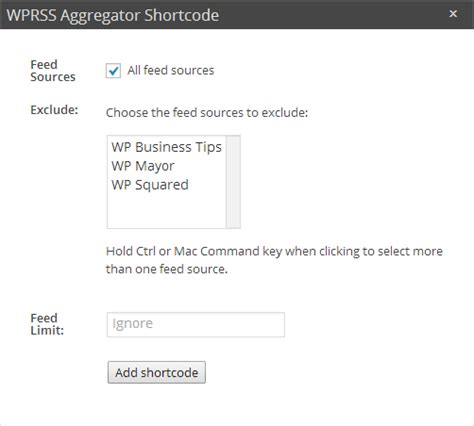 fetch feeds in wordpress using wp rss aggregator plugin