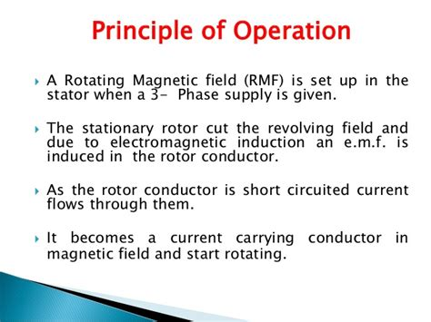 principle of operation of induction stove 3 ph induction motor ppt