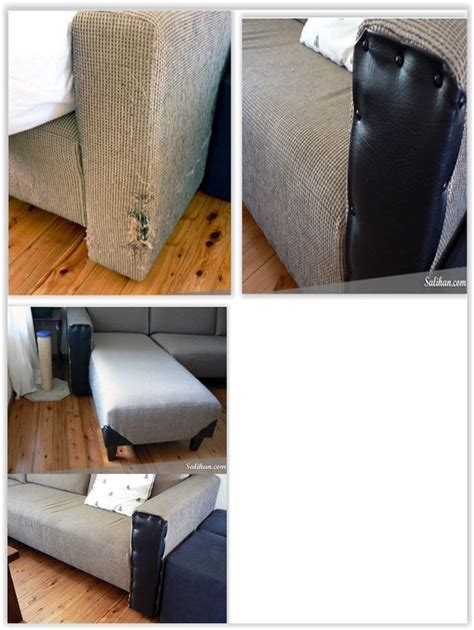 How To Repair Vinyl Upholstery - repairing a cat scratched sofa using black vinyl