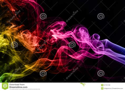 colorful cigarettes smoke colorful smoke clouds up royalty free stock photo