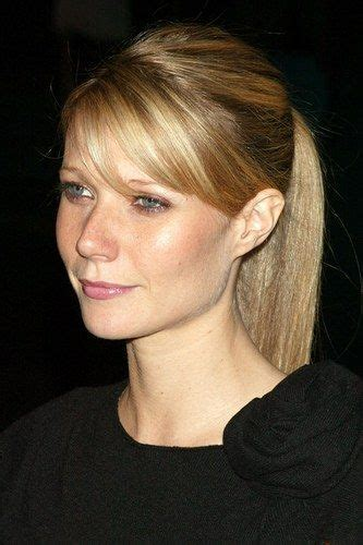pony tail with fringes back 13 beautiful gwyneth paltrow hairstyles sexy long