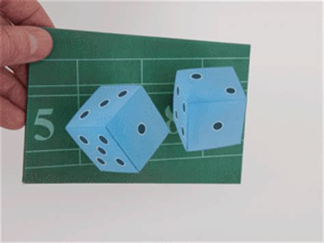 Papercraft Illusion - illusion papercraft magic dice free template