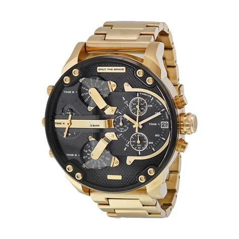 Jam Tangan Pria Diesel Chronograph jual diesel s golden business mechanical jam